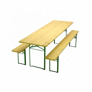 HE-203,Wooden Folding Beer Table Set Outdoor Beer Table and Bench Set Garden Beer Table And Benches Set