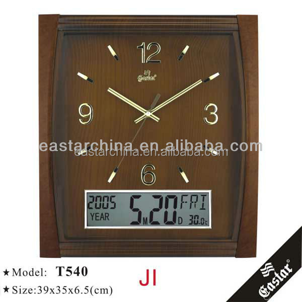 Decorative digital wall clock antique finished wall clock old style