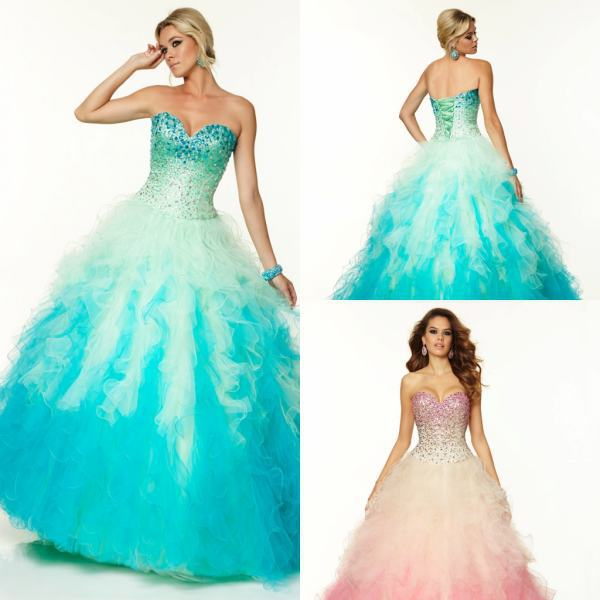 4e8ad2ee61e Get Quotations · Sweet 15 Dresses Quinceanera 2015 Light Pink Prom Party  Gowns With Stone Organza Ruffled Ball Gown