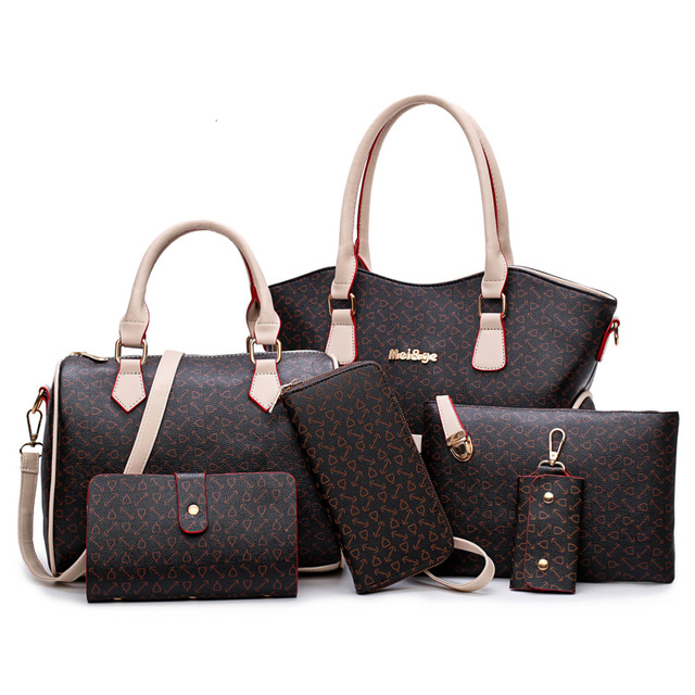 32440e6a91 Fashion Handbag for Women Designer Bag Handbag Bulk China Factory set bag 6  in 1 set