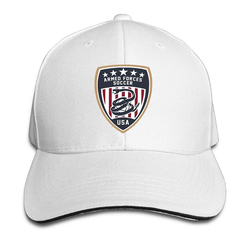 94b7f724b194a GENZHESI Armed Forces Soccer Adjustable Baseball Hat Dad Hats Trucker Hat  Sandwich Visor Cap