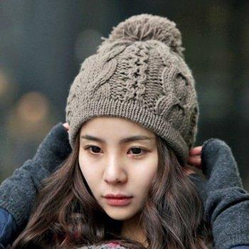 Knit Ski Pom Pom Winter Beanie Hat - Buy Long Beanie Hat 3a9188c67d8