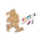 3D wooden craft puzzle Father Christmas