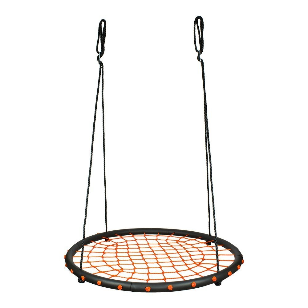 Outdoor furniture general use round metal swing net swing for Round porch swing