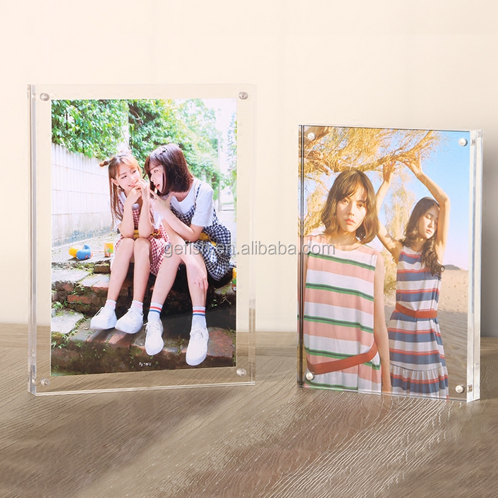customized acrylic table top photo frame cut frame funny frame