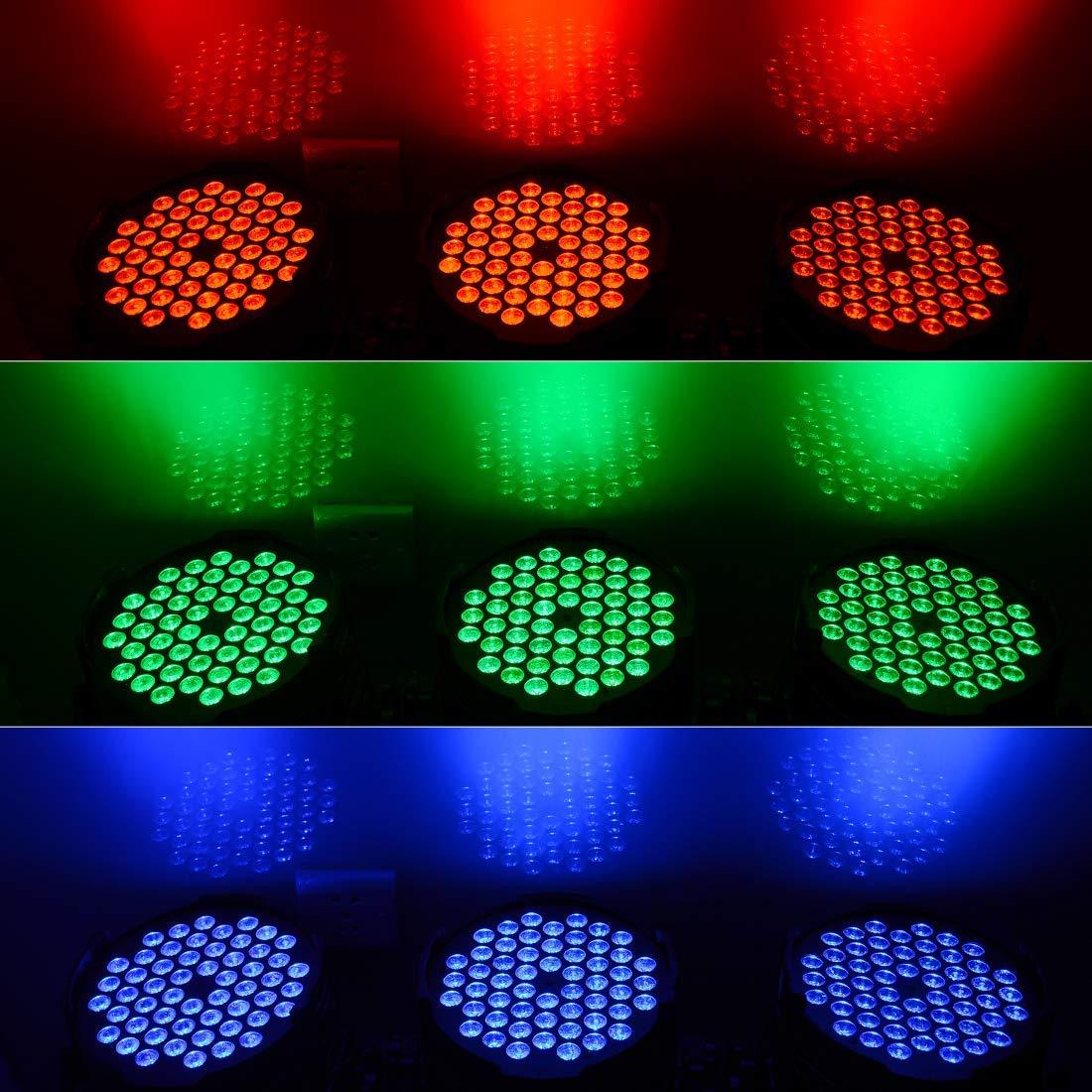 Big Dipper LPC007-H Par Stage 54X3W RGB 3IN1 DMX LED Stage Lighting, DJ Disco Party Stage Led Light