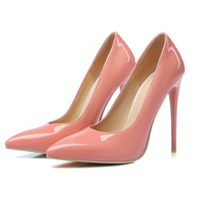 Beautiful Elegant Ladies Pointed Toes 12cm High Heel Sexy Women Pump Thin Shoes Wholesale