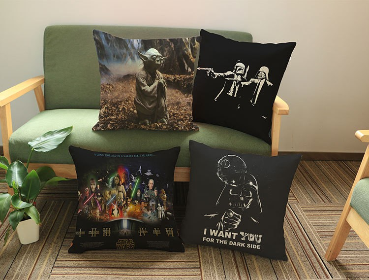 Europe and America Star Wars Wall Stickers pattern print luxury home decoration Car sofa seat cushion cushions pillowcover