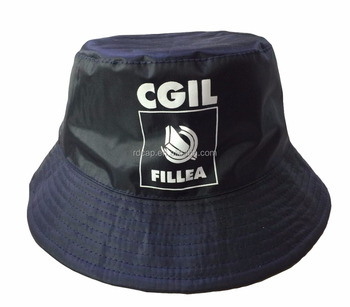 94263ec04a2889 Promotion cheap Reversible polar fleece nylon custom logo bucket hats  fisherman caps winter hats