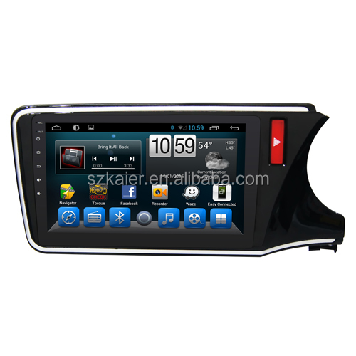 2016 New! Android 6.0 2 din Car Audio Video Gps Navigation System for Honda City 2014 2015 with SWC Radio Glonass Music Ipod