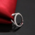 Handmade Fashion Adjustable Silver Rhodium Openning End Ring