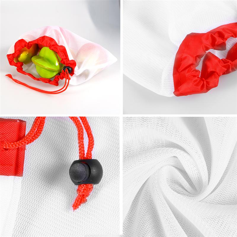 12pcs/set Fruit and Vegetable Reusable Eco Friendly Mesh Produce Bags