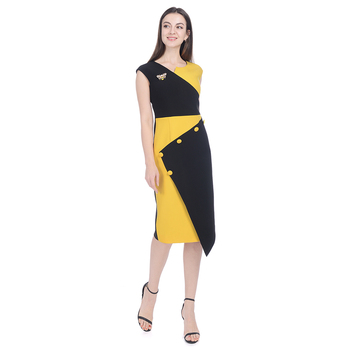 2019 Spring Newest Women's Casual Wear for Work Office Career Sheath Dress Sleeveless Elegant Wear Cocktail Dress