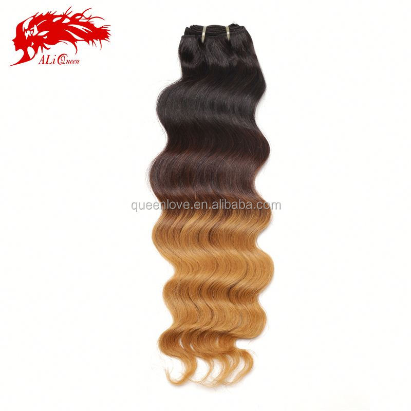 aliexpress sew-in-human-hair-weave-ombre-hair cuticle virgin malaysian curly hair
