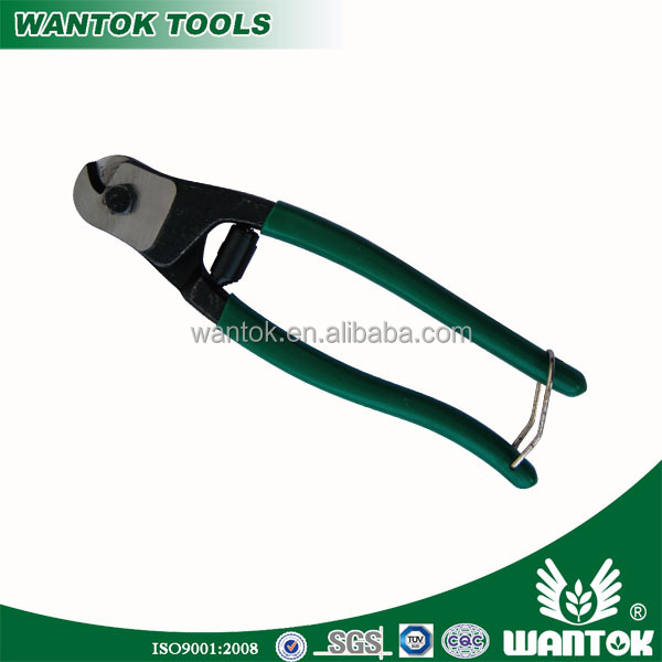 "WT0305158 8"" chrome vanadium wire cutter with green handle"