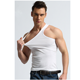 Black men sport muscle sleeveless plain tank top vest