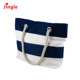 canvas rope handle beach bag stripe color canvas tote bag