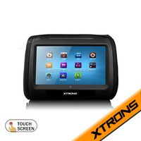 2X9 Digital black Touch Screen flip down multi-media headrest car dvd player support Support 32 Bit Games