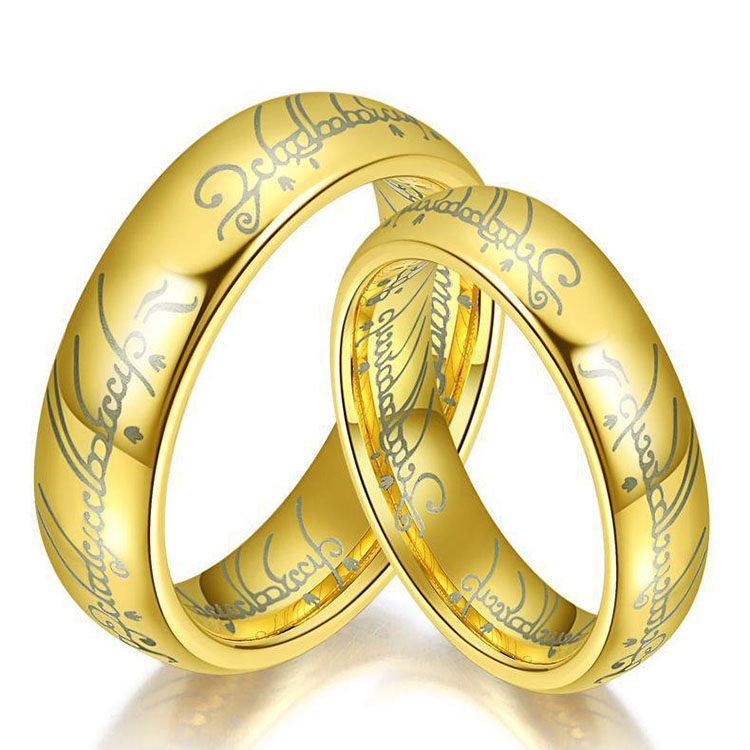 Stainless Steel One Ring Of Power Gold The Lord Of Ring Lovers Women Men Fashion Jewelry Rings