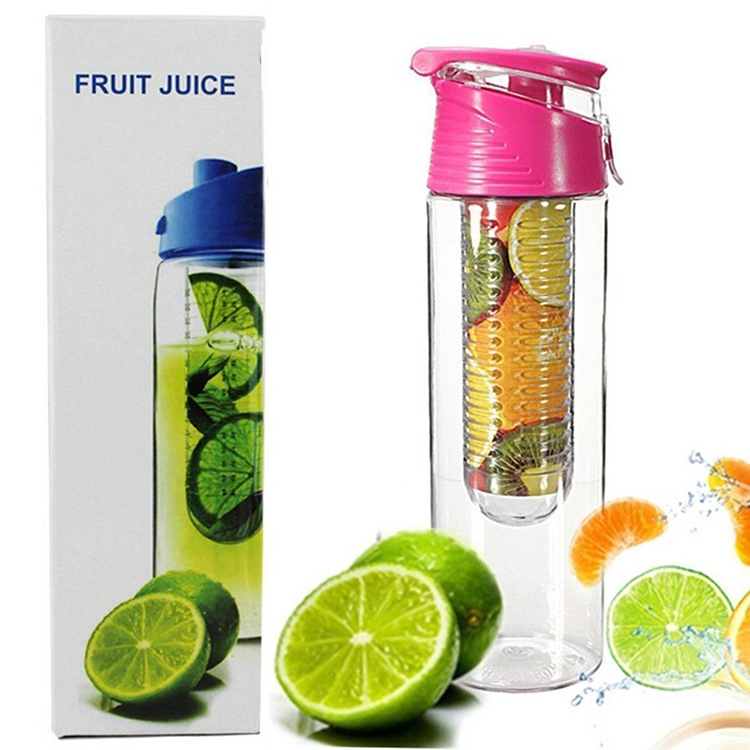 Hot private label BPA gratis eiwit joyshak water zetgroep fles 750 ml detox gym sport water fles fruit zetgroep