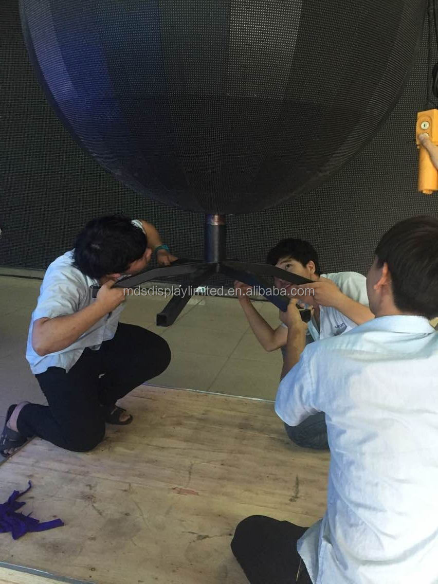P4.8 360 degree flexible led module display indoor led sphere display screen