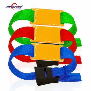 Asiarfid F08 13.56MHZ Nylon Watch Style Adjustable Colorful Event Ticket RFID Wristband