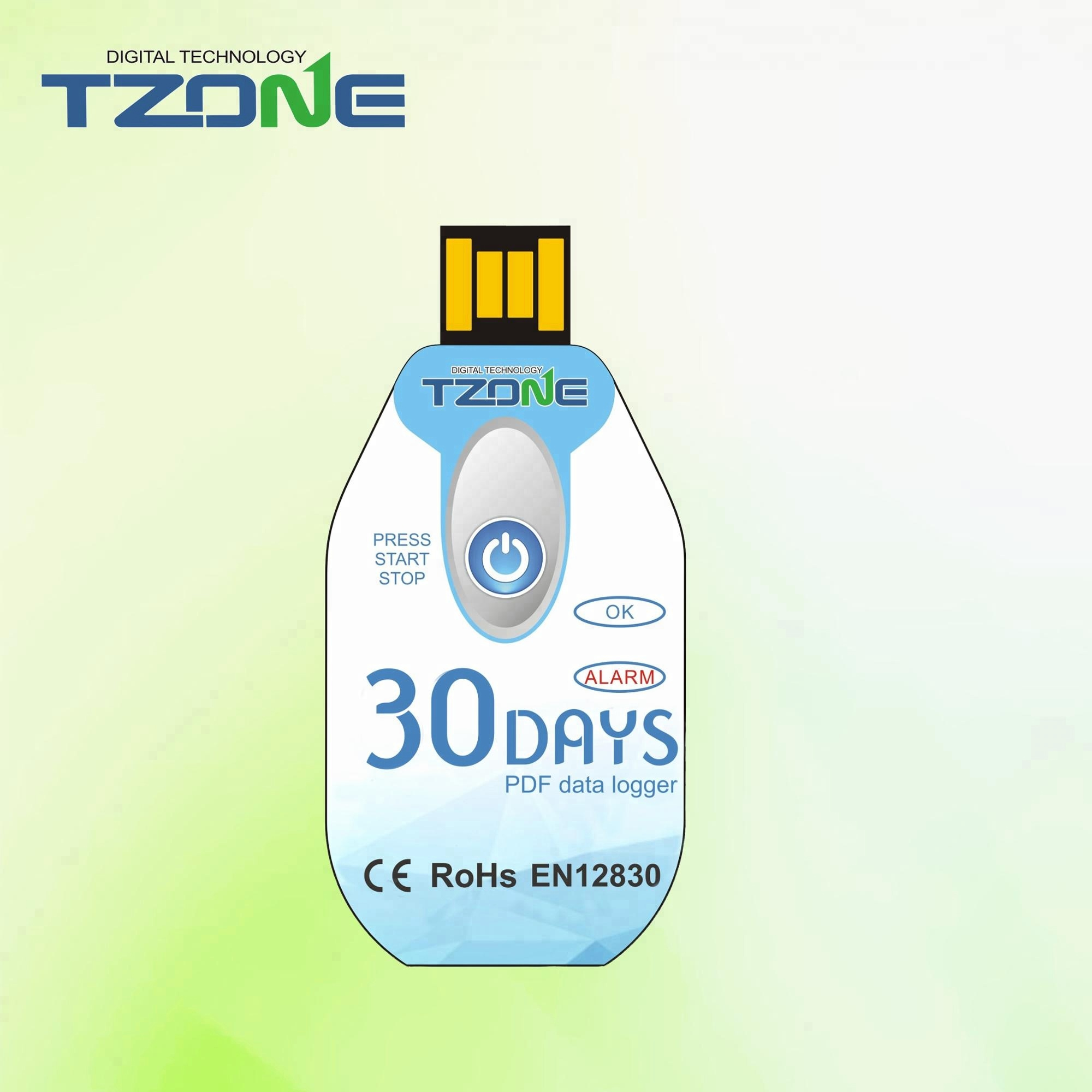 Tzone USB Temperature Data Logger 0.5 Accuracy In a -20 to 60 Celsius Measurement Range