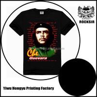 Customized box design t-shirt viscose cotton