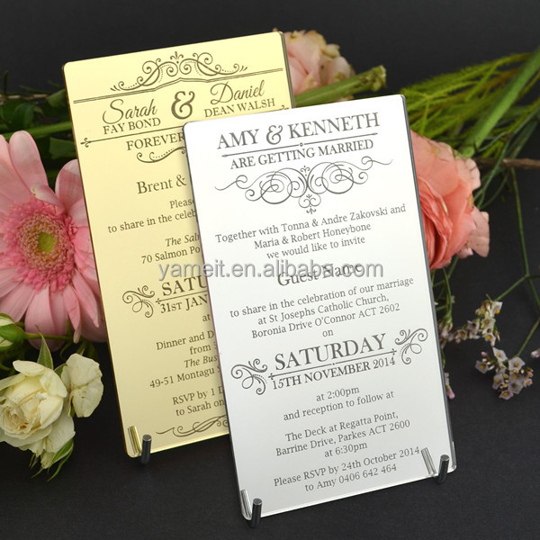 Acrylic Glass Wedding Invitations Acrylic Glass Wedding Invitations