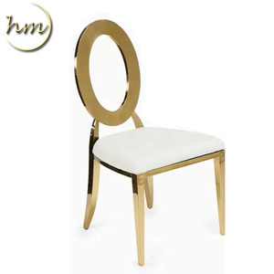 Wholesale Selling Event Style Hotel Banquet O hollow Chair Stainless Steel Wedding Chair