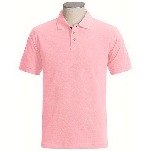 Short Sleeve Plain Pink Color Polo T Shirt - Buy Pink Color Polo T ...