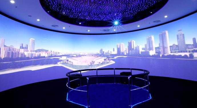 Amazing 360 Degree Round Frame Projection Screen Buy