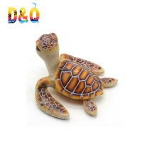 Ocean sea life beach souvenir decoration Sea turtle statue souvenir resin turtle figurine