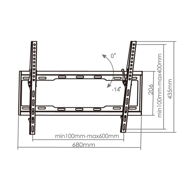 For hanging plants curved folding angled tv wall bracket - Slanted wall tv mount ...