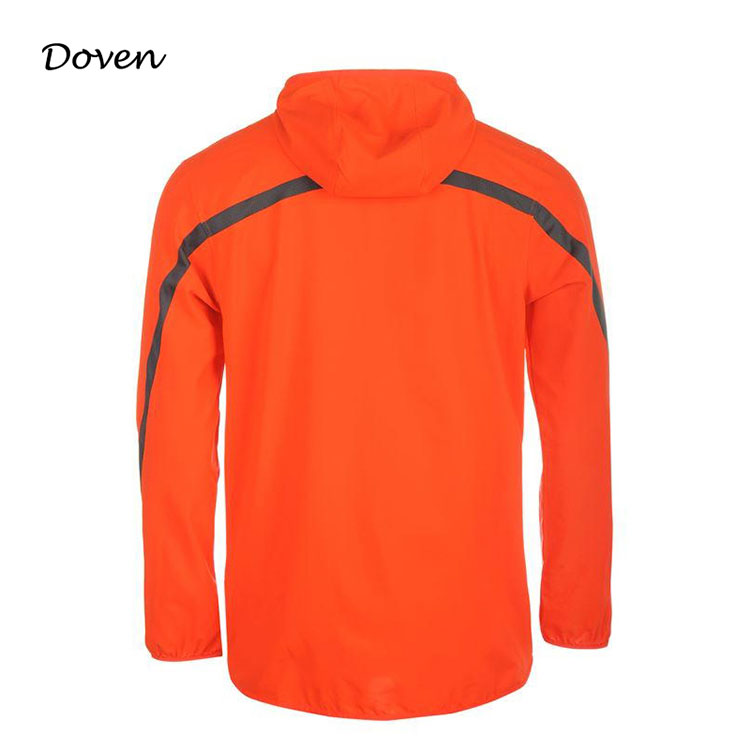 Eco-friendly windproof mens softshell running jacket