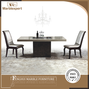 Marble Turntable Artificial Stone Marble Dining Table Top