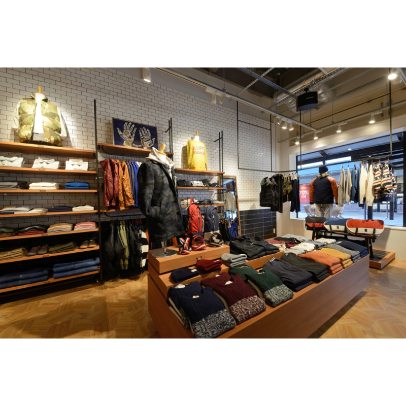 China Factory Directly Clothing Garment Retail Store Metal