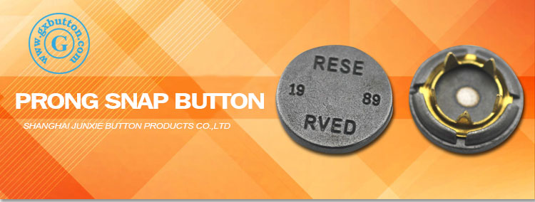 Custom logo metal prong snap fasteners button jackets for