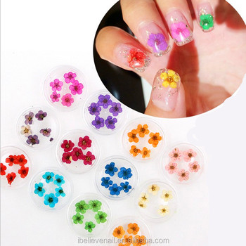 Professional Good Quality Natural Dry Flower 3d Stickers Decals Nail