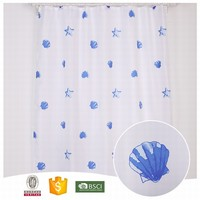 2017 Top Quality Plants multi color fabric shower stripe curtains