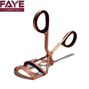Custom eye beauty tools stainless steel private label lash curler matte rose gold eyelash curler with silicone pad