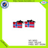 Wholesale custom printed country flag cufflinks with epoxy