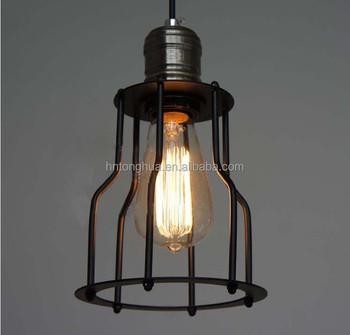 iron edison bulb suspended pendant light - Edison Bulb Pendant