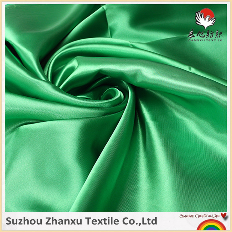 Suzhou saleable 100%polyester matt elastic stretch satin fabric for curtain bedding
