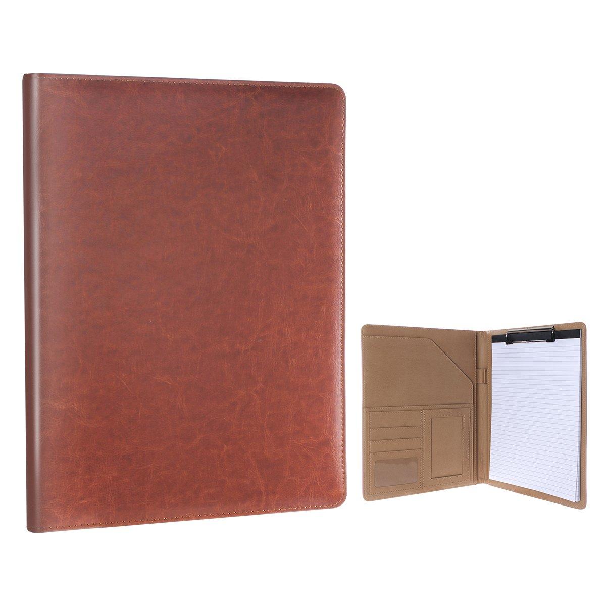 Geila PU Leather Clipboard Padfolio Resume Storage Clipboard Folder ...
