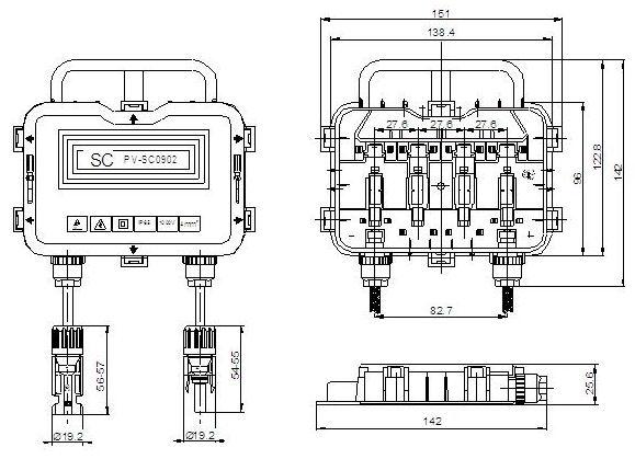 pv sc01 high quality solar module junction box