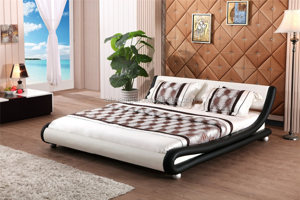 curve shape beds black and white coloour bed frame manufacturer simple bed frames for - Simple Bed Frame