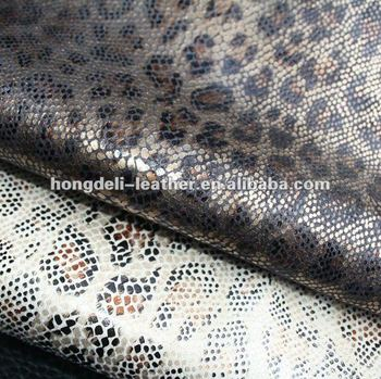 Snake Skin Fabrice For Shoe And Bag Bonded Leather Fabric Shoe