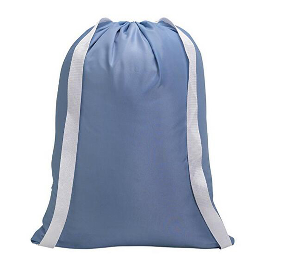 Big capacity dry cleaning drawstring home use laundry bag with shoulder strap