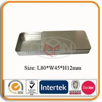 Rectangle Small Slide Top Metal Tin Box